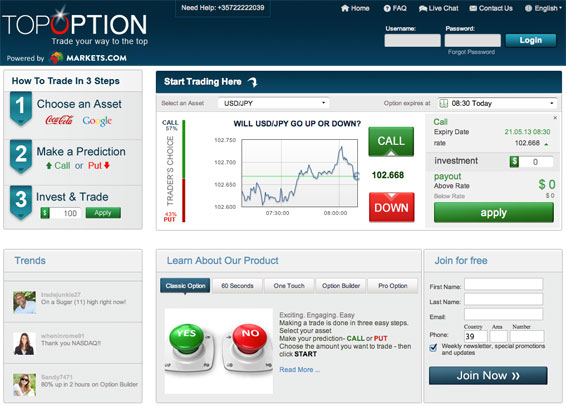 Binary options cuenta demo